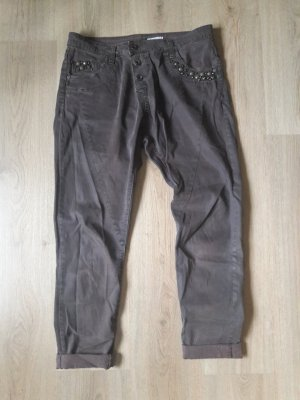 Please Pantalone chino marrone scuro