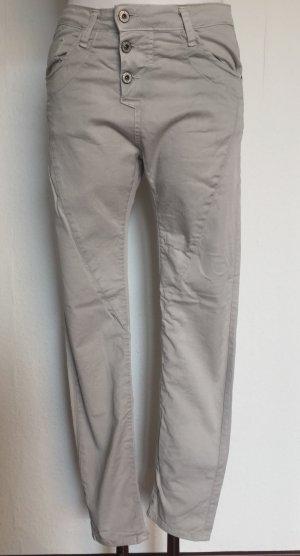 Please Pantalon boyfriend beige coton