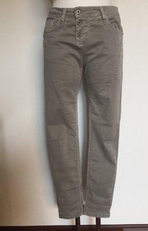 Please Pantalon boyfriend gris coton