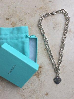 Please return to Tiffany & Co. Collier Gliederkette Herz Anhänger