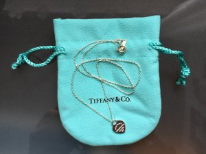 Please Return to Tiffany & Co. Collier Kette mit mini Herz Anhänger, 925 Silber
