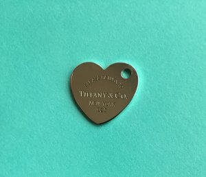 Please return to Tiffany & Co. Herzanhänger mit Loch, 925 Silber