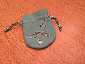 Please return to Tiffany & Co. Mini XS Herz Anhänger an feiner Kugelkette, 925 Silber