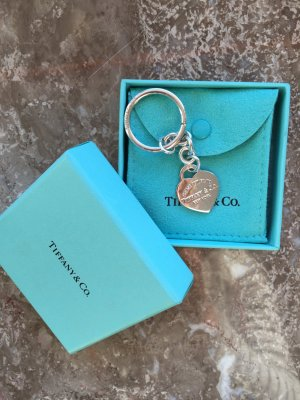 Tiffany&Co Key Chain silver-colored real silver