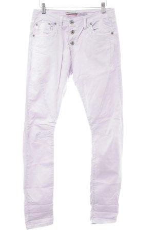 Please Drainpipe Trousers mauve casual look