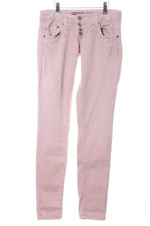 Please Pantalone a sigaretta rosa stile casual