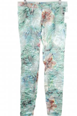 Please Röhrenhose florales Muster Casual-Look
