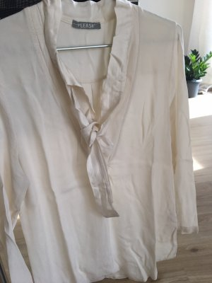 Please Tie-neck Blouse cream