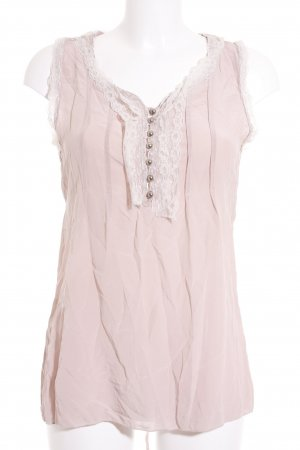 Please Seidentop rosa-creme Lingerie-Look