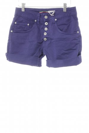 Please Shorts dunkelviolett Casual-Look