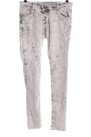 Please Skinny Jeans weiß-schwarz Casual-Look