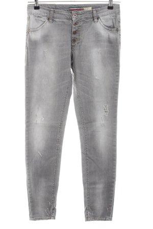 Please Skinny Jeans hellgrau Casual-Look