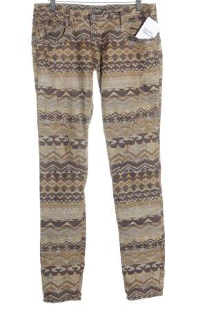 Please Skinny Jeans abstraktes Muster Antik-Look