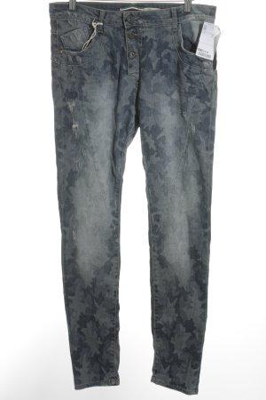Please Skinny Jeans blassblau-blau abstraktes Muster Casual-Look