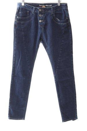 Please Skinny Jeans blau-dunkelblau Street-Fashion-Look