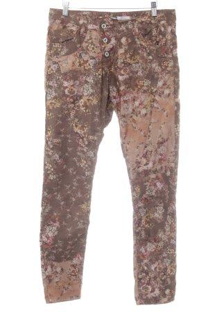 Please Skinny Jeans Blumenmuster Romantik-Look