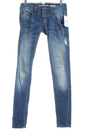 Please Skinny Jeans dunkelblau Urban-Look