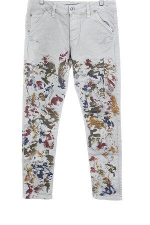 Please Skinny Jeans Farbtupfermuster extravaganter Stil