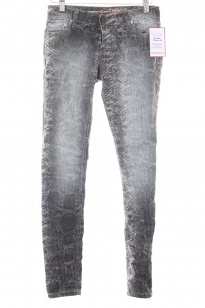 Please Skinny Jeans Farbverlauf Reptil-Optik