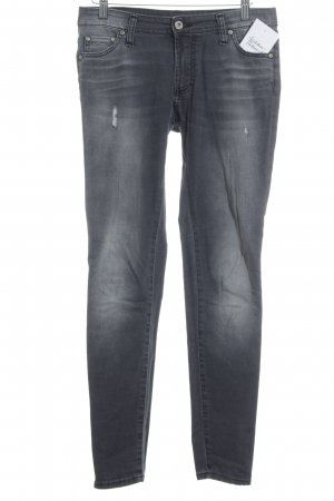 Please Skinny Jeans grau Destroy-Optik