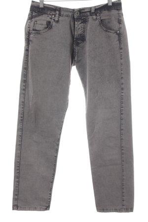 Please Skinny Jeans grau-dunkelgrau meliert Casual-Look