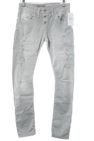 Please Skinny Jeans graugrün Casual-Look