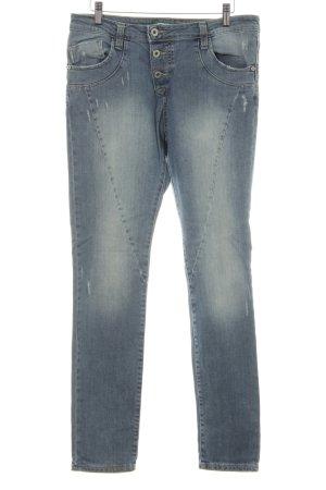 Please Skinny Jeans hellblau-silberfarben Casual-Look