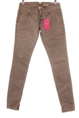Please Skinny Jeans hellbraun Street-Fashion-Look