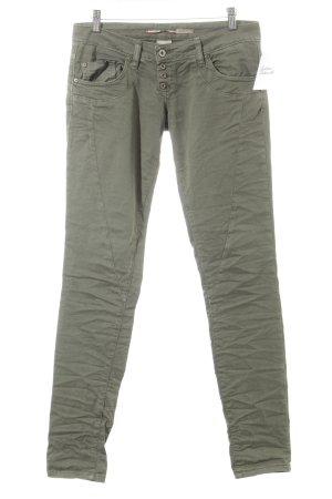 Please Skinny Jeans khaki Street-Fashion-Look
