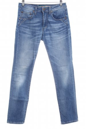 Please Skinny Jeans stahlblau Street-Fashion-Look