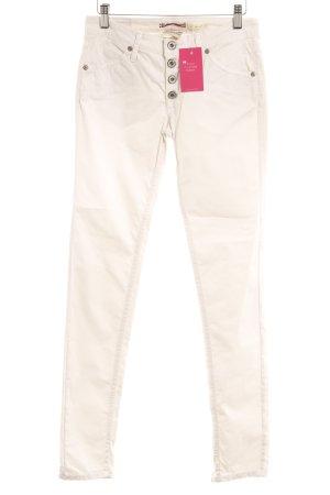 Please Skinny Jeans wollweiß Casual-Look