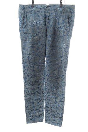 Please Slim Jeans blau-hellgrau Allover-Druck Casual-Look