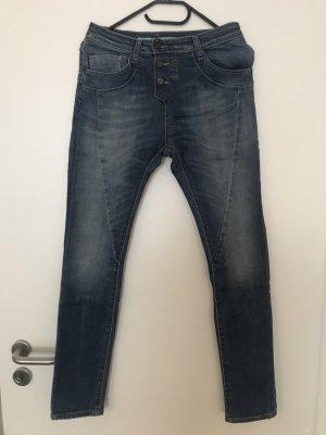 Please Slim jeans staalblauw-azuur