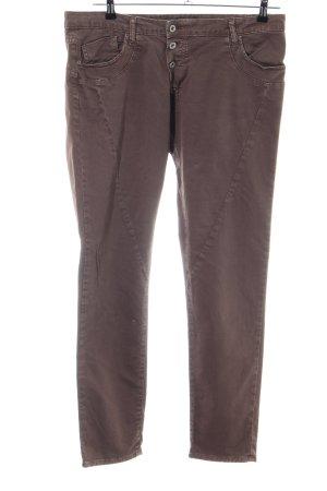 Please Slim Jeans bronzefarben Business-Look