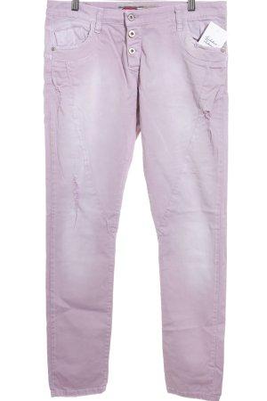 Please Slim Jeans blasslila Casual-Look