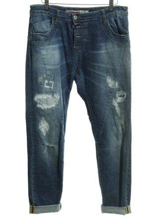 Please Slim Jeans blau Destroy-Optik