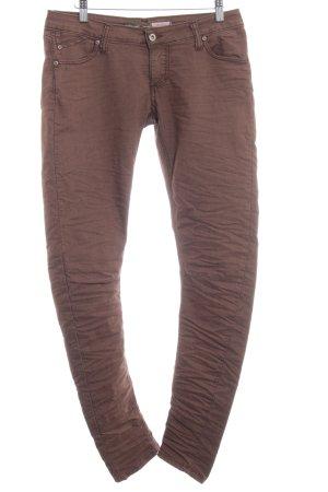 Please Slim Jeans braun klassischer Stil