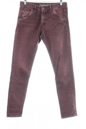 Please Slim Jeans brombeerrot Casual-Look