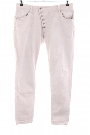 Please Jeans slim fit crema stile casual