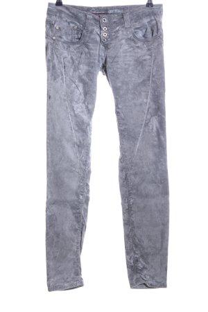 Please Slim Jeans blau-hellgrau meliert Casual-Look