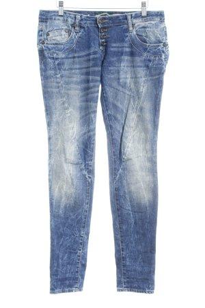 Please Slim Jeans dunkelblau-himmelblau 90ies-Stil