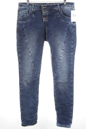 Please Slim Jeans dunkelblau-stahlblau Casual-Look