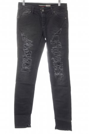 Please Slim Jeans dunkelgrau Casual-Look