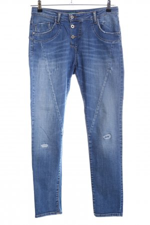 Please Slim Jeans blau Street-Fashion-Look