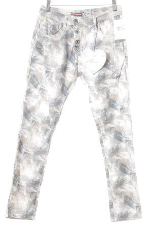 Please Slim Jeans Farbtupfermuster Casual-Look