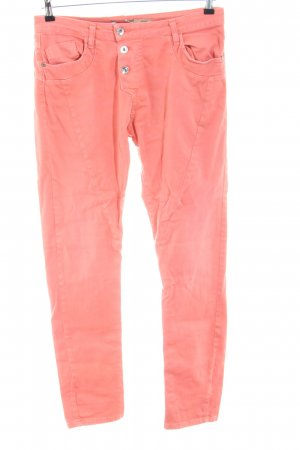 Please Jeans slim fit rosa stile casual
