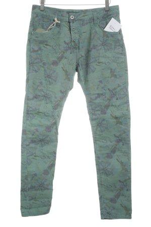 Please Slim Jeans florales Muster Casual-Look