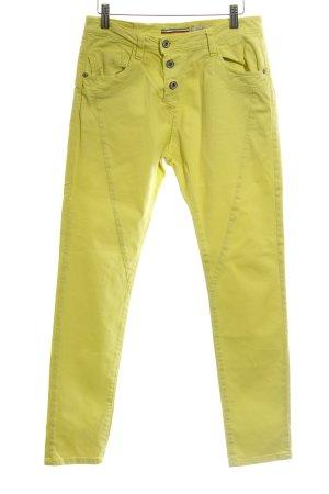 Please Slim Jeans gelb Casual-Look