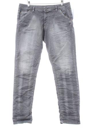 Please Slim Jeans grau Casual-Look