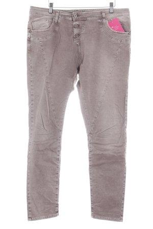 Please Slim Jeans graubraun Casual-Look